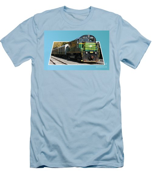 Adirondack Railroad Men's T-Shirt (Athletic Fit)