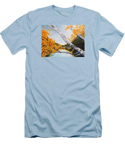Adirondacks New York Men's T-Shirt (Slim Fit) by Holly Carmichael