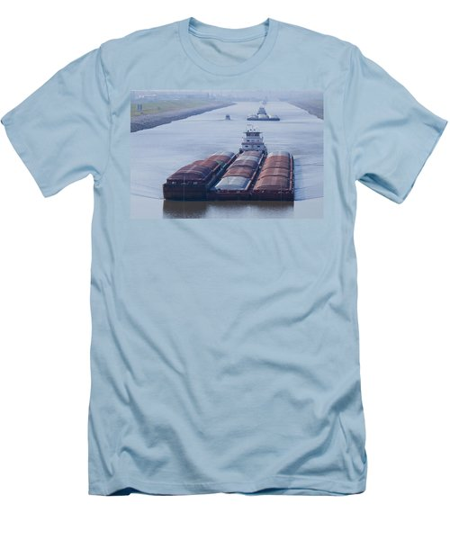 Aep Tow Passing Through The Chain Of Rocks Canal Men's T-Shirt (Athletic Fit)