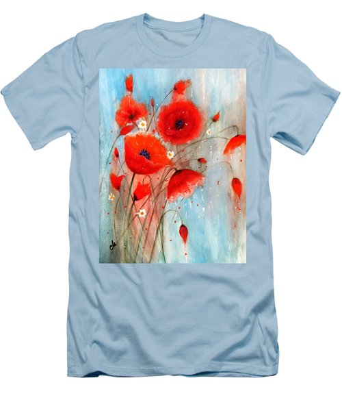 After The Rain.. Men's T-Shirt (Slim Fit) by Cristina Mihailescu
