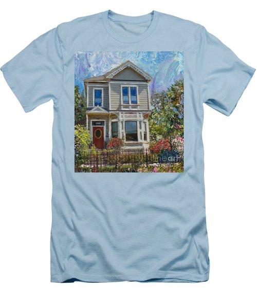 Alameda 1892 Queen Anne Men's T-Shirt (Slim Fit) by Linda Weinstock
