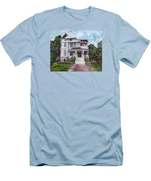 Alameda 1897 - Queen Anne Men's T-Shirt (Slim Fit) by Linda Weinstock
