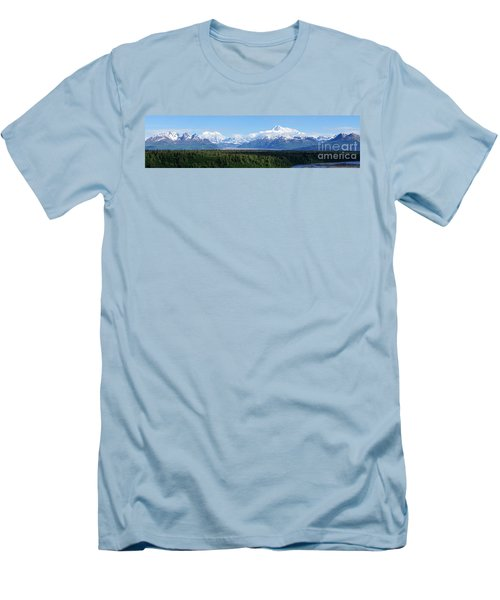 Alaskan Denali Mountain Range Men's T-Shirt (Athletic Fit)