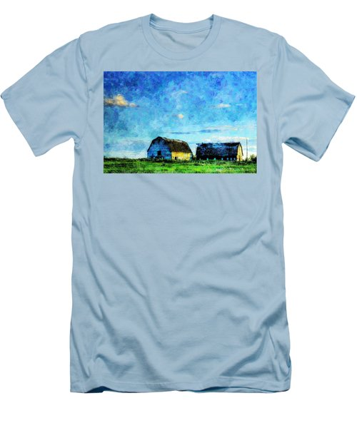 Alberta Barn At Sunset Men's T-Shirt (Athletic Fit)