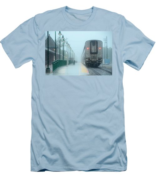 All Aboard Men's T-Shirt (Slim Fit) by Charlotte Schafer