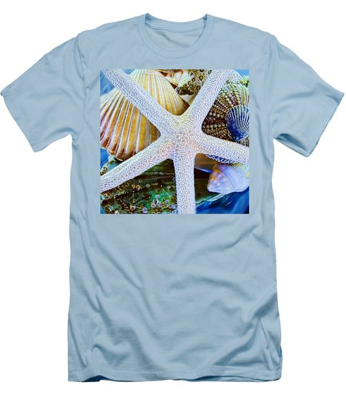 All The Colors Of The Sea Men's T-Shirt (Slim Fit) by Colleen Kammerer