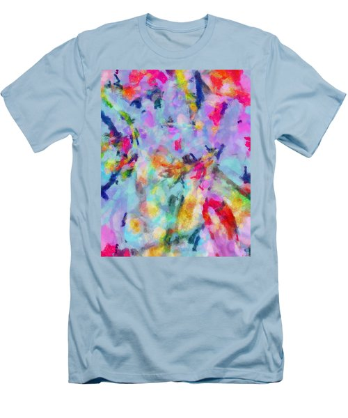 Men's T-Shirt (Slim Fit) featuring the painting All Those Good Things by Joe Misrasi