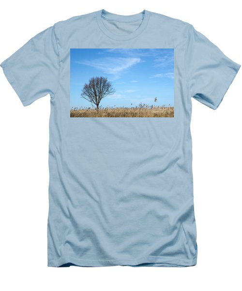 Alone Tree In The Reeds Men's T-Shirt (Slim Fit) by Kennerth and Birgitta Kullman
