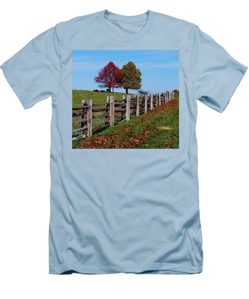 Along The Fence Men's T-Shirt (Athletic Fit)