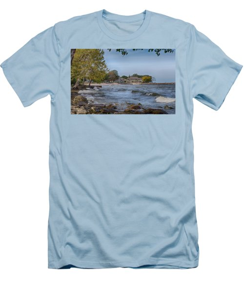Men's T-Shirt (Athletic Fit) featuring the photograph Along The Shores Of Marblehead by John M Bailey
