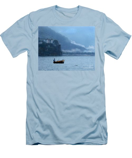 Men's T-Shirt (Slim Fit) featuring the photograph Amalfi To Capri. Italy by Jennie Breeze
