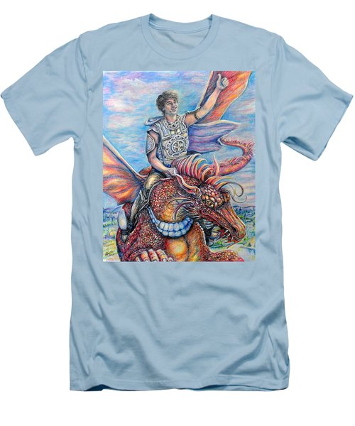 Amazing Rider Men's T-Shirt (Slim Fit) by Gail Butler