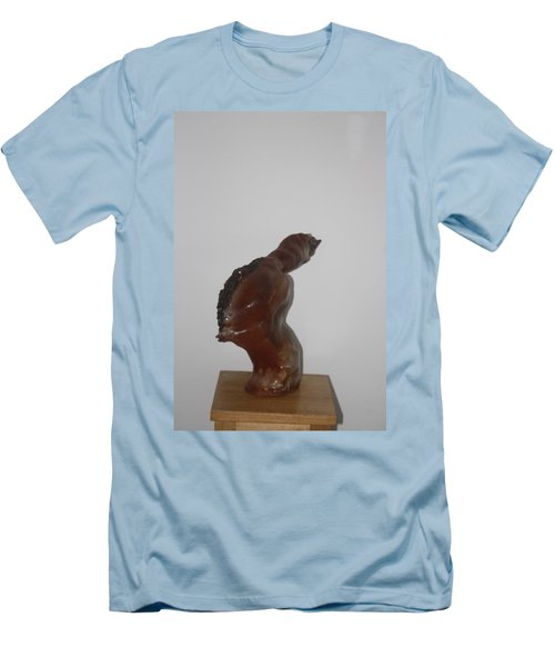 Men's T-Shirt (Slim Fit) featuring the sculpture American Athlete...inspiration Gail Devers by Gloria Ssali