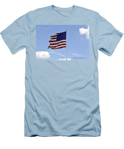Men's T-Shirt (Slim Fit) featuring the photograph American Flag by Verana Stark