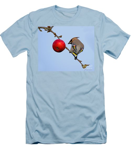 An Apple A Day... Men's T-Shirt (Slim Fit) by Torbjorn Swenelius
