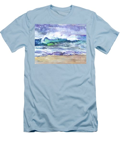 An Ode To The Sea Men's T-Shirt (Slim Fit) by Carol Wisniewski