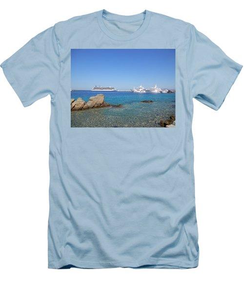 Anchored Ships Men's T-Shirt (Slim Fit) by Pema Hou