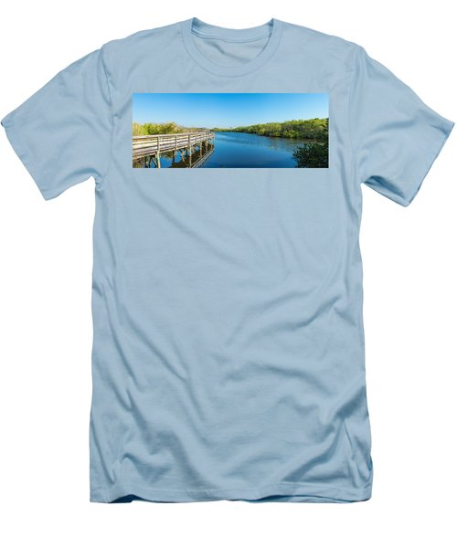 Anhinga Trail Boardwalk, Everglades Men's T-Shirt (Athletic Fit)