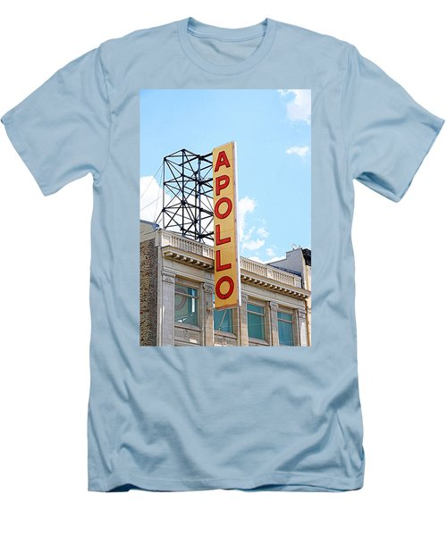 Apollo Theater Sign Men's T-Shirt (Slim Fit) by Valentino Visentini