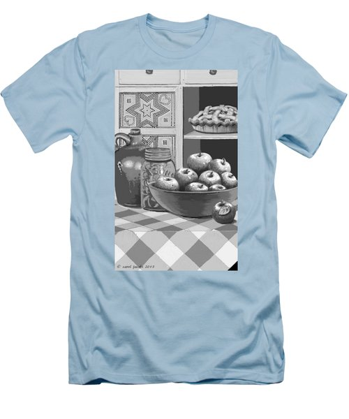 Men's T-Shirt (Slim Fit) featuring the digital art Apples Four Ways by Carol Jacobs