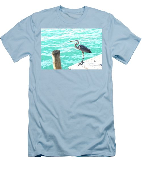 Men's T-Shirt (Slim Fit) featuring the photograph Aqua Bliss by Margie Amberge