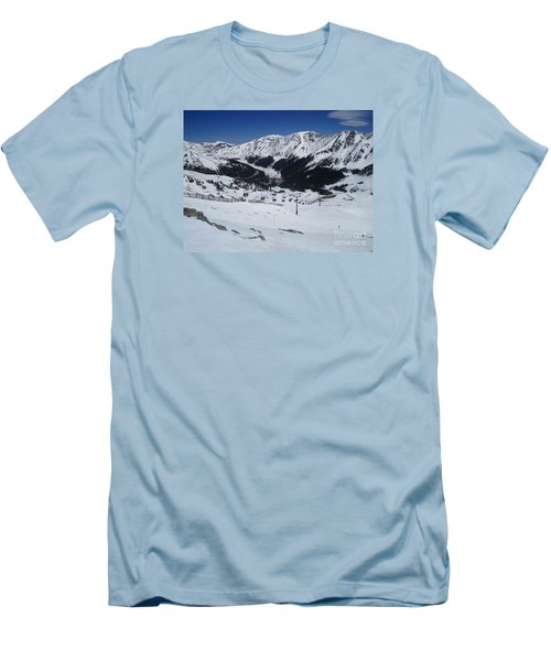 Arapahoe Basin June 2  Men's T-Shirt (Slim Fit) by Fiona Kennard