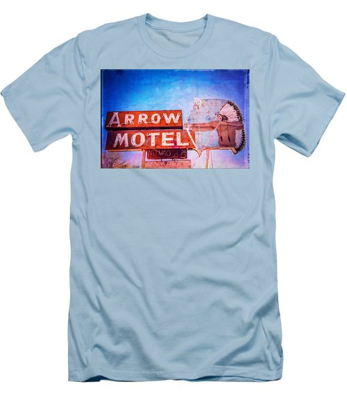 Men's T-Shirt (Slim Fit) featuring the photograph Arrow Motel by Steven Bateson