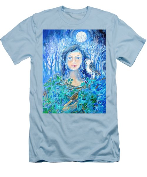 Artemis And The Wren- Men's T-Shirt (Slim Fit) by Trudi Doyle