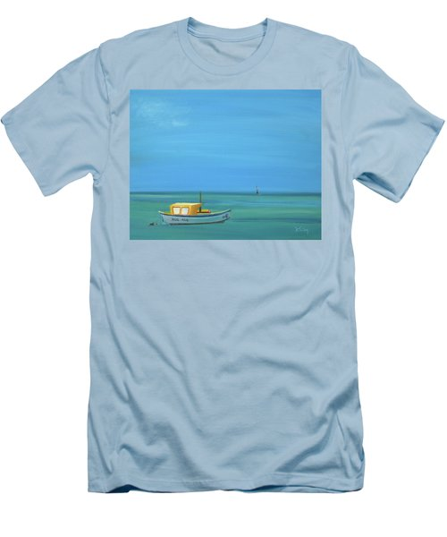 Men's T-Shirt (Slim Fit) featuring the painting Aruba by Donna Tuten