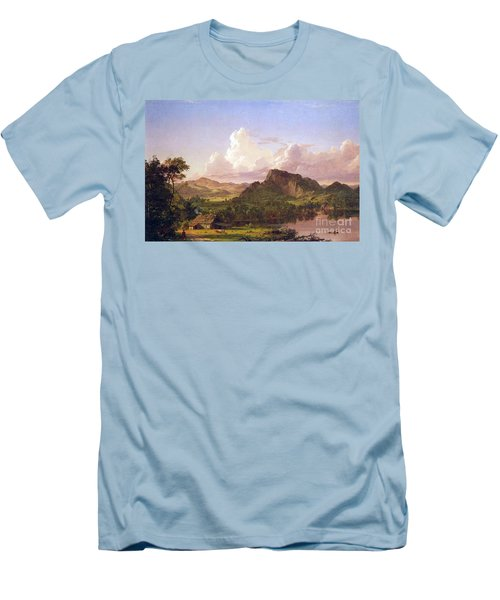 At Home On The Lake By Frederick Edwin Church Men's T-Shirt (Athletic Fit)