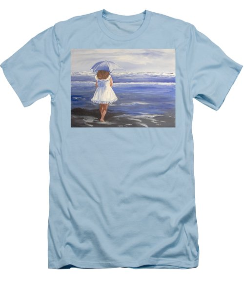 At The Beach Men's T-Shirt (Slim Fit) by Catherine Swerediuk