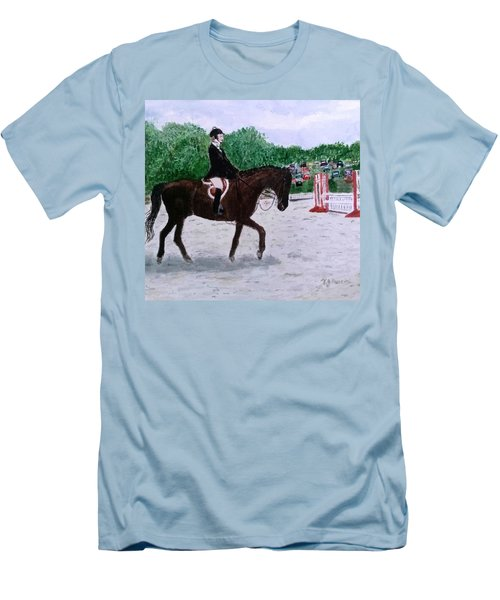 At The June Fete Men's T-Shirt (Slim Fit) by Vickie G Buccini