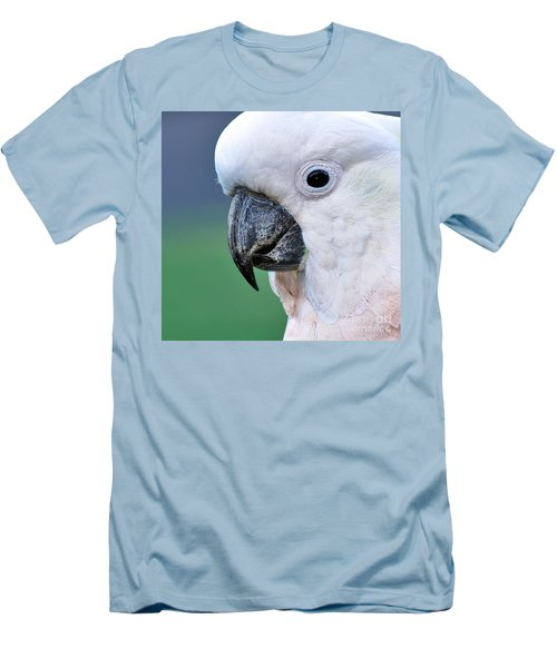 Australian Birds - Cockatoo Up Close Men's T-Shirt (Slim Fit) by Kaye Menner