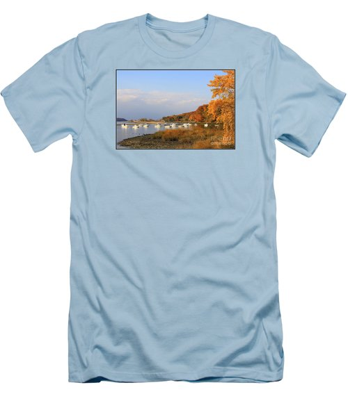 Autumn At Cold Spring Harbor Men's T-Shirt (Slim Fit) by Dora Sofia Caputo Photographic Art and Design