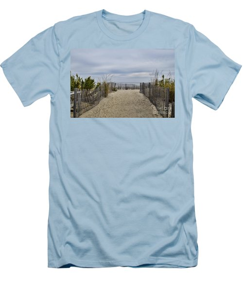 Autumn At The Beach Men's T-Shirt (Athletic Fit)