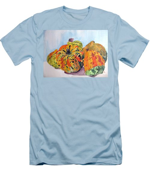 Men's T-Shirt (Slim Fit) featuring the painting Autumn Gourds by Sandy McIntire