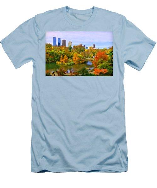 Autumn In Central Park 4 Men's T-Shirt (Athletic Fit)