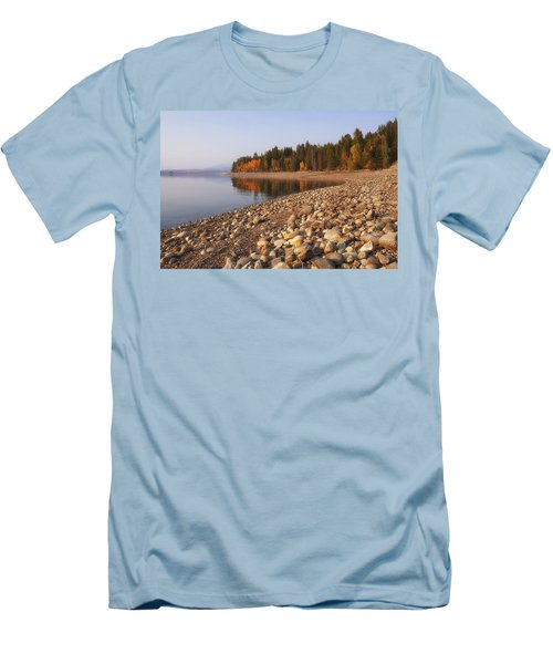 Men's T-Shirt (Slim Fit) featuring the photograph Autumn Lake by Andrew Soundarajan