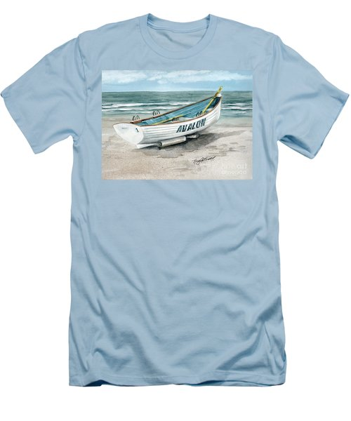 Avalon Lifeguard Boat  Men's T-Shirt (Athletic Fit)