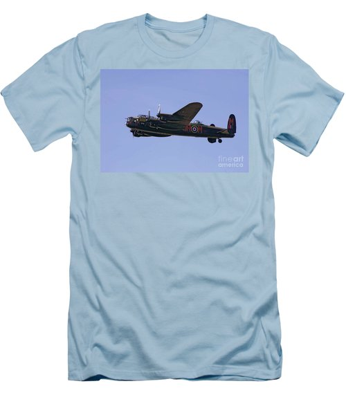 Avro 638 Lancaster At The Royal International Air Tattoo Men's T-Shirt (Slim Fit) by Paul Fearn