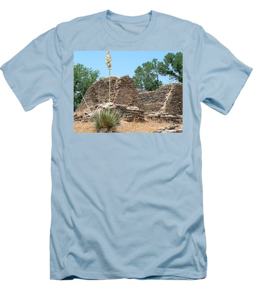 Aztec Ruins National Monument Men's T-Shirt (Slim Fit) by Laurel Powell