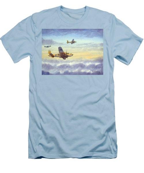B-25 Mitchell Men's T-Shirt (Slim Fit) by Bill Holkham
