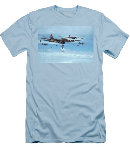 B17 - Mighty 8th Arrives Men's T-Shirt (Athletic Fit)