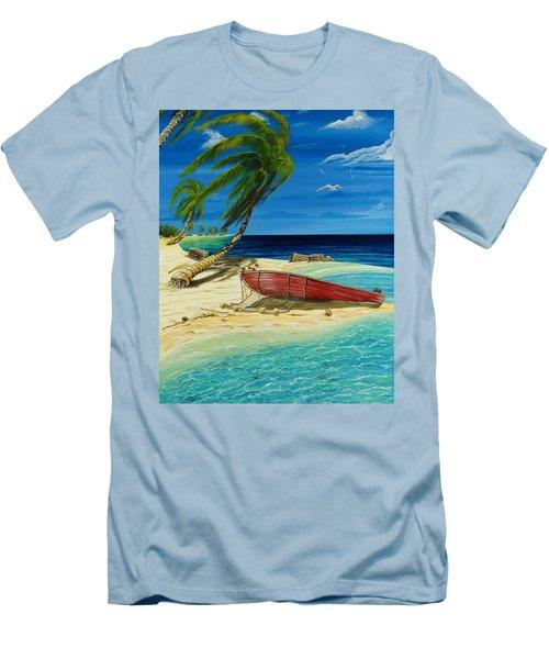 Bahama Beach Men's T-Shirt (Slim Fit) by Steve Ozment