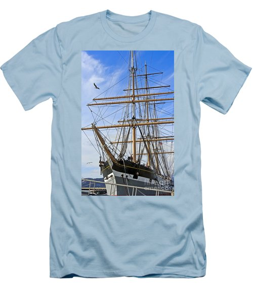 Men's T-Shirt (Slim Fit) featuring the photograph Balclutha by Kate Brown