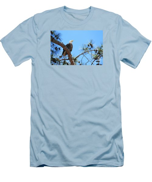 Men's T-Shirt (Slim Fit) featuring the photograph Bald Eagle by Geraldine DeBoer