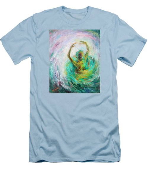Men's T-Shirt (Slim Fit) featuring the painting Ballerina by Xueling Zou