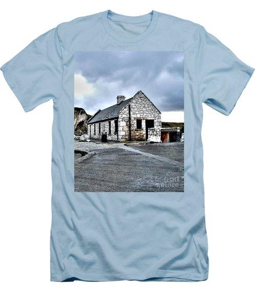 Ballintoy Stone House Men's T-Shirt (Slim Fit) by Nina Ficur Feenan