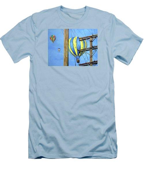 Balloon Race Men's T-Shirt (Athletic Fit)