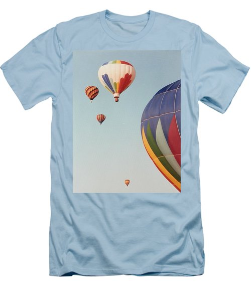 Men's T-Shirt (Slim Fit) featuring the photograph Balloons High In The Sky by Belinda Lee